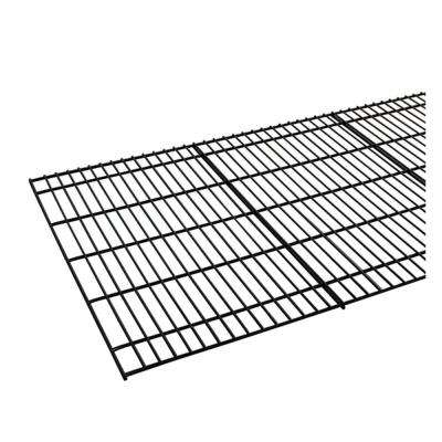 36 in. L x 18 in. D Individual Black Steel Wire Mesh Decking