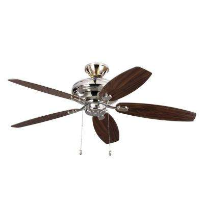 Centro Max Uplight 52 in. Indoor Polished Nickel Ceiling Fan