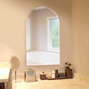 The Howard Elliott Collection 19 inch x 32 inch Arched Frameless Mirror by The Howard Elliott Collection