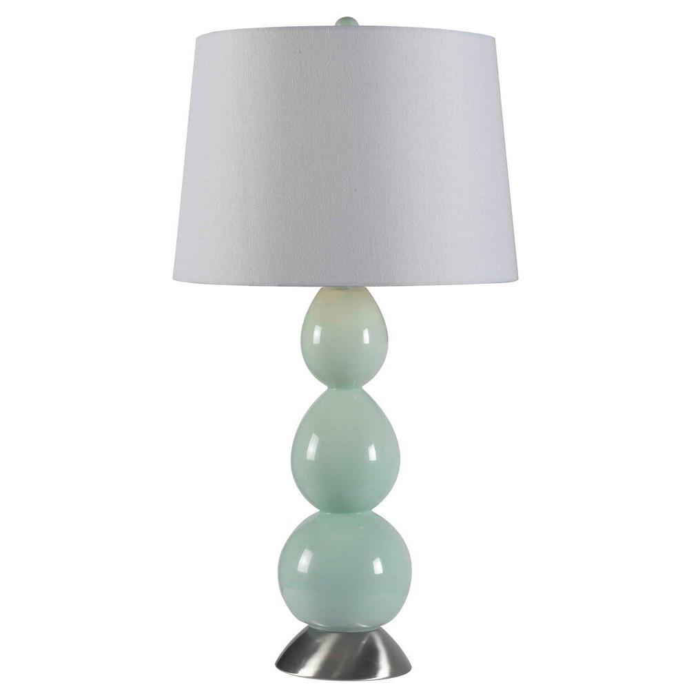 Green Table Lamp HDP11259   The Home Depot