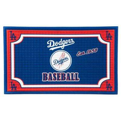Los Angeles Dodgers 18 in. x 30 in. Embossed Welcome Mat