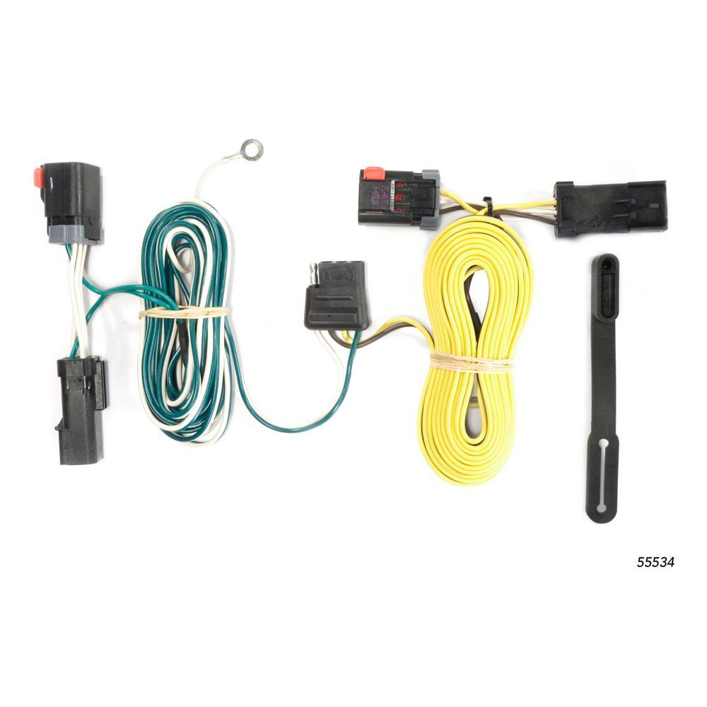 Fantastic Curt Custom Wiring Harness 4 Way Flat Output 55534 The Home Depot Wiring Digital Resources Funapmognl