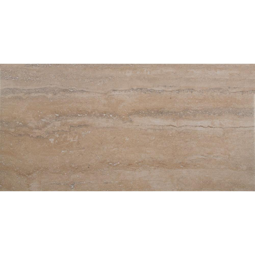 Trevi Beige 12 In X 24 Glazed Porcelain Floor And Wall Tile