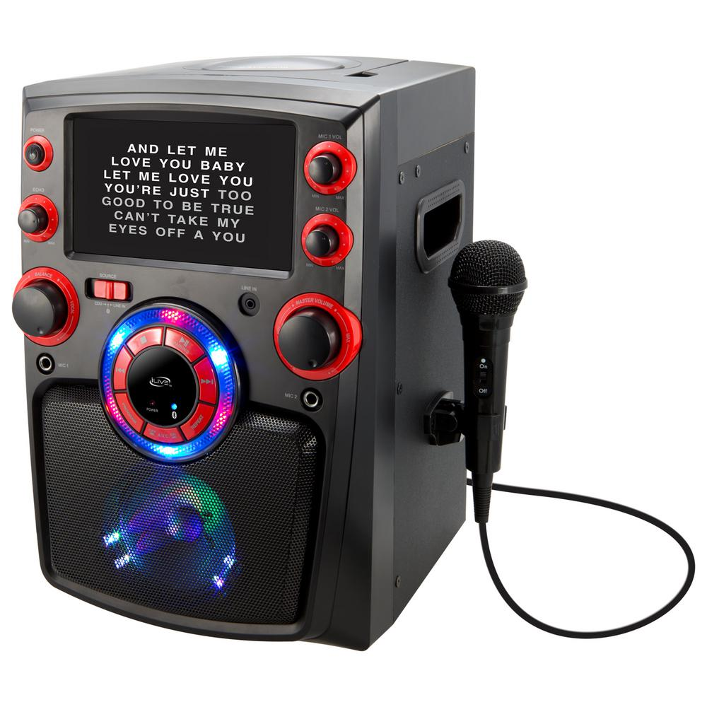 ILIVE Bluetooth Karaoke Machine with 7 in. TFT Monitor an...