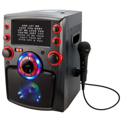 Bluetooth Karaoke Machine with 7 in. TFT Monitor and LED Light Show