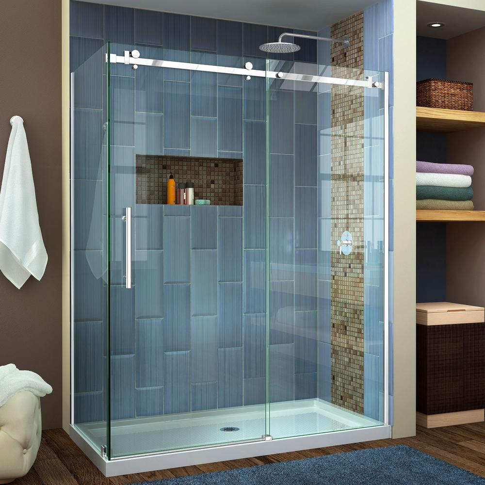 Frosted - Frameless - Shower Doors - Showers - The Home Depot