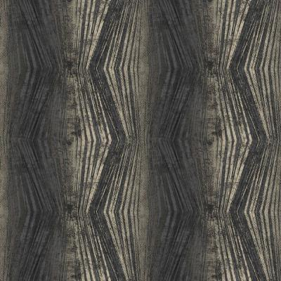 Vermeil Stripe Black and Silver Removable Wallpaper