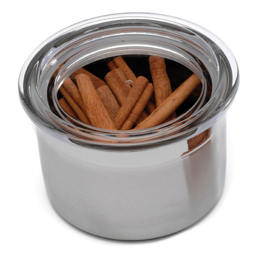 Studio Stainless Steel 2.5-Cup Canister with Acrylic Lid