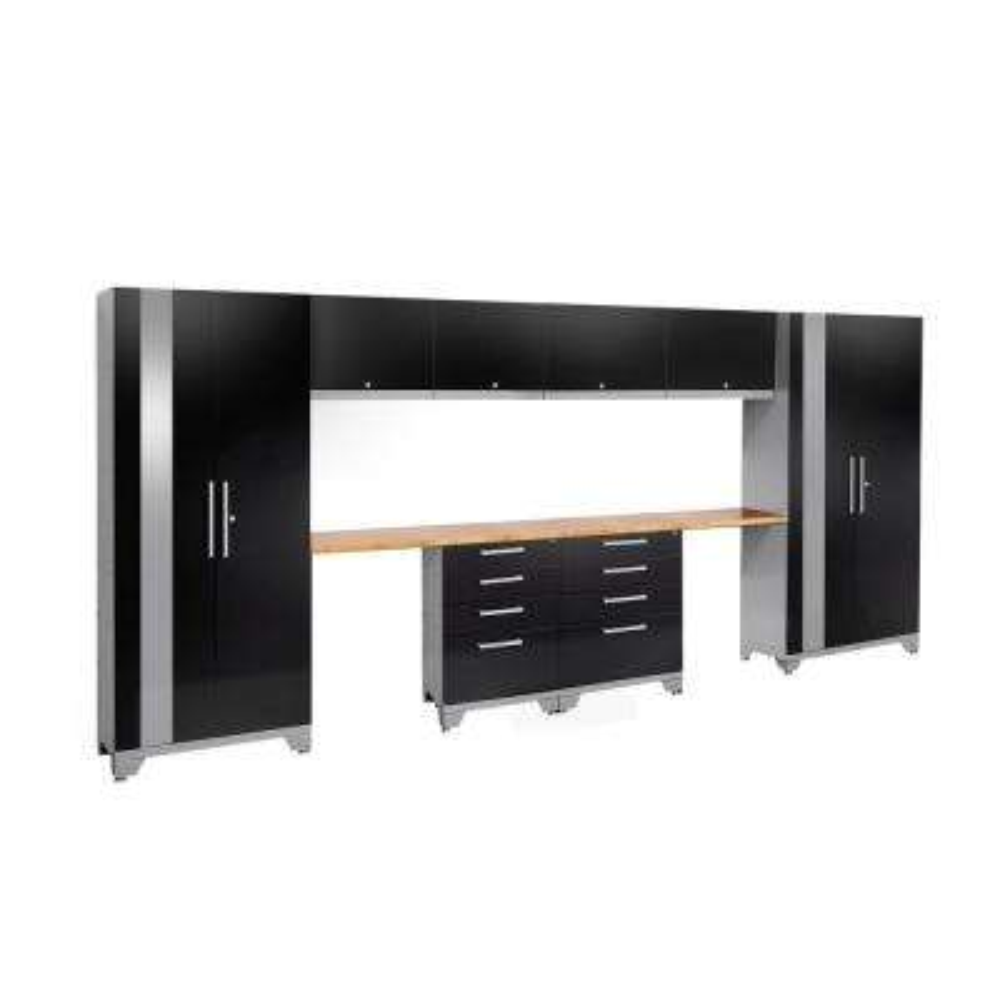 Performance 2.0 72 in. H x 156 in. W x 18 in. D Garage Cabinet Set in Black (10-Piece)