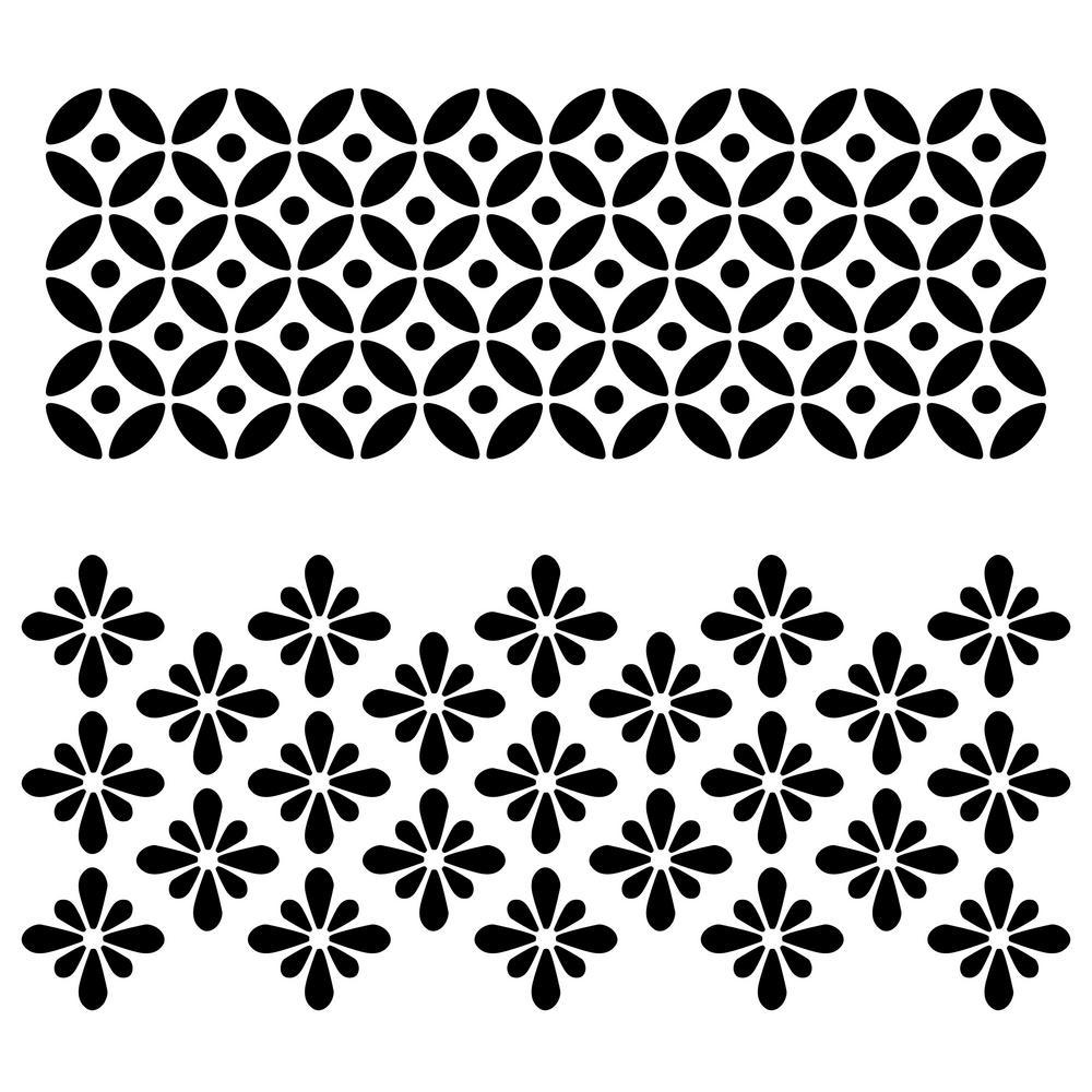 Designer Stencils Circle Flower Motif Stencil 10 Mil Plastic