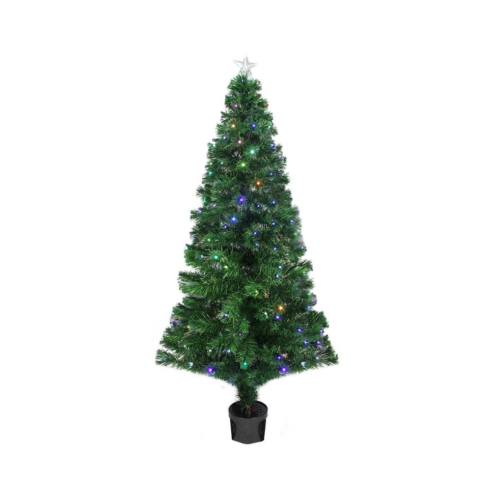 Northlight 4 Ft Pre Lit Led Color Changing Fiber Optic Christmas
