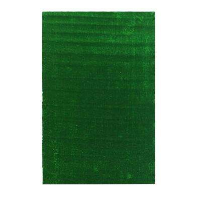 Grassland Collection 3 ft. 11 in. x 6 ft. 6 in. Indoor/Outdoor Artificial Grass Synthetic Lawn Turf