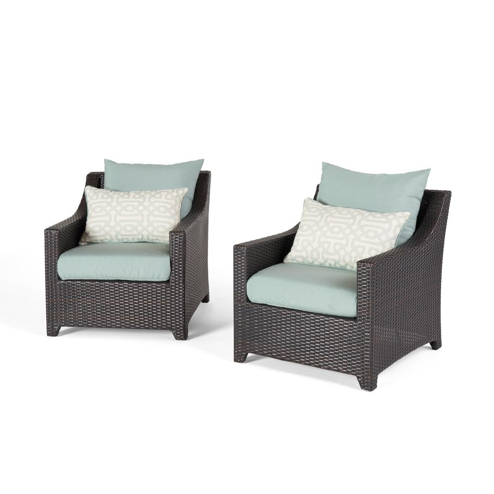 Patio Club Chair Set: RST Brands Deco 2-Piece All-Weather Wicker Patio Club