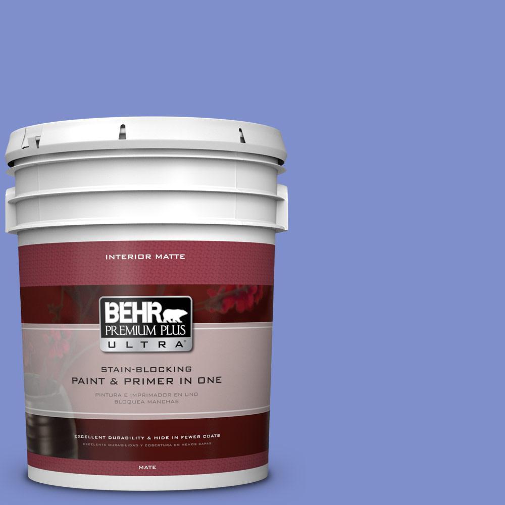 BEHR Premium Plus Ultra 5 gal. #P540-5 Pansy Garden Matte Interior Paint