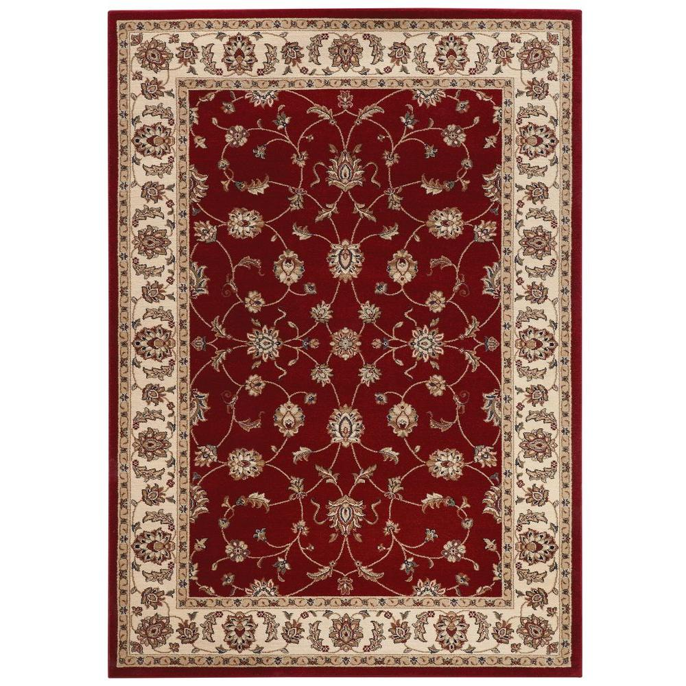 Home Decorators Collection Claire Red 9 Ft 2 In X 11 Ft