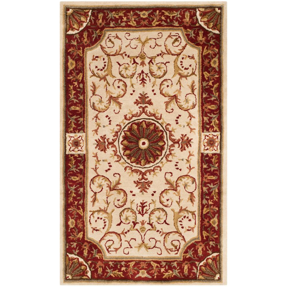 Empire Ivory/Red 3 ft. x 5 ft. Area Rug