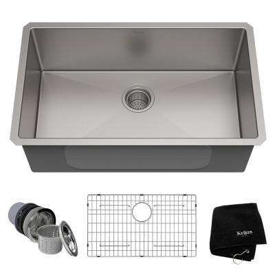 Standart PRO 30in. 16 Gauge Undermount Single Bowl Stainless Steel Kitchen Sink