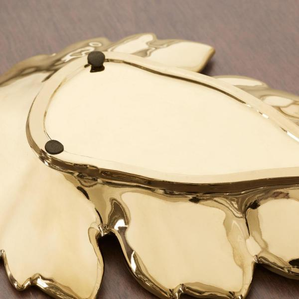 Home Decorators Collection - Home Decorators Collection Gold Ceramic Decorative Leaf Tray