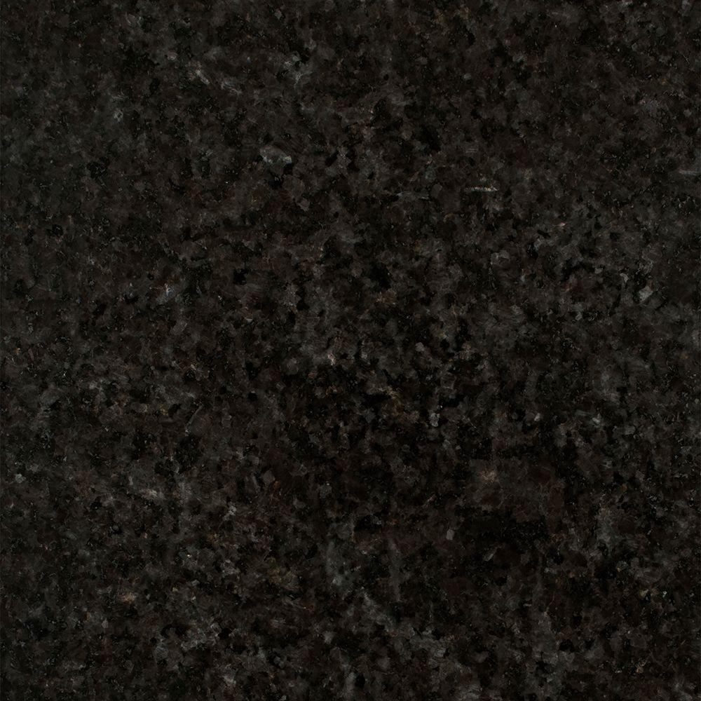 Stonemark 3 in. x 3 in. Granite Countertop Sample in Black ... on Black Granite Countertops  id=37101