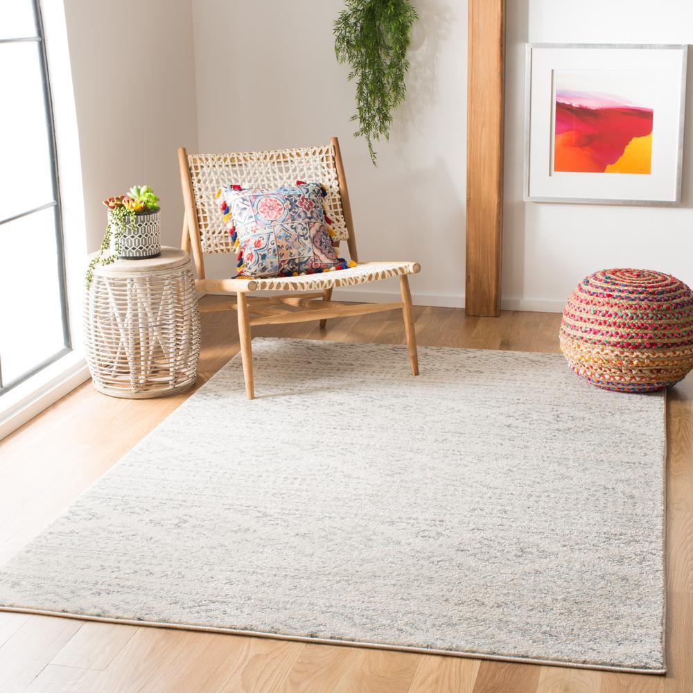 Tulum Ivory/Gray 5 ft. x 8 ft. Area Rug