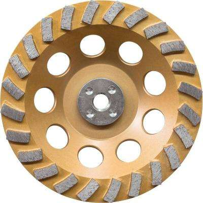 7 in. Turbo 24 Segment Diamond Cup Wheel, Low-Vibration, Compatible with Angle Grinders with electronic controller