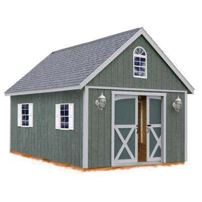 belmont 12 ft x 16 ft wood storage shed kit