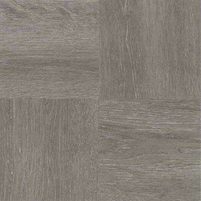 Nexus Charcoal Grey 12 in. x 12 in. Peel and Stick Parquet Vinyl Tile (20 sq. ft. / case)