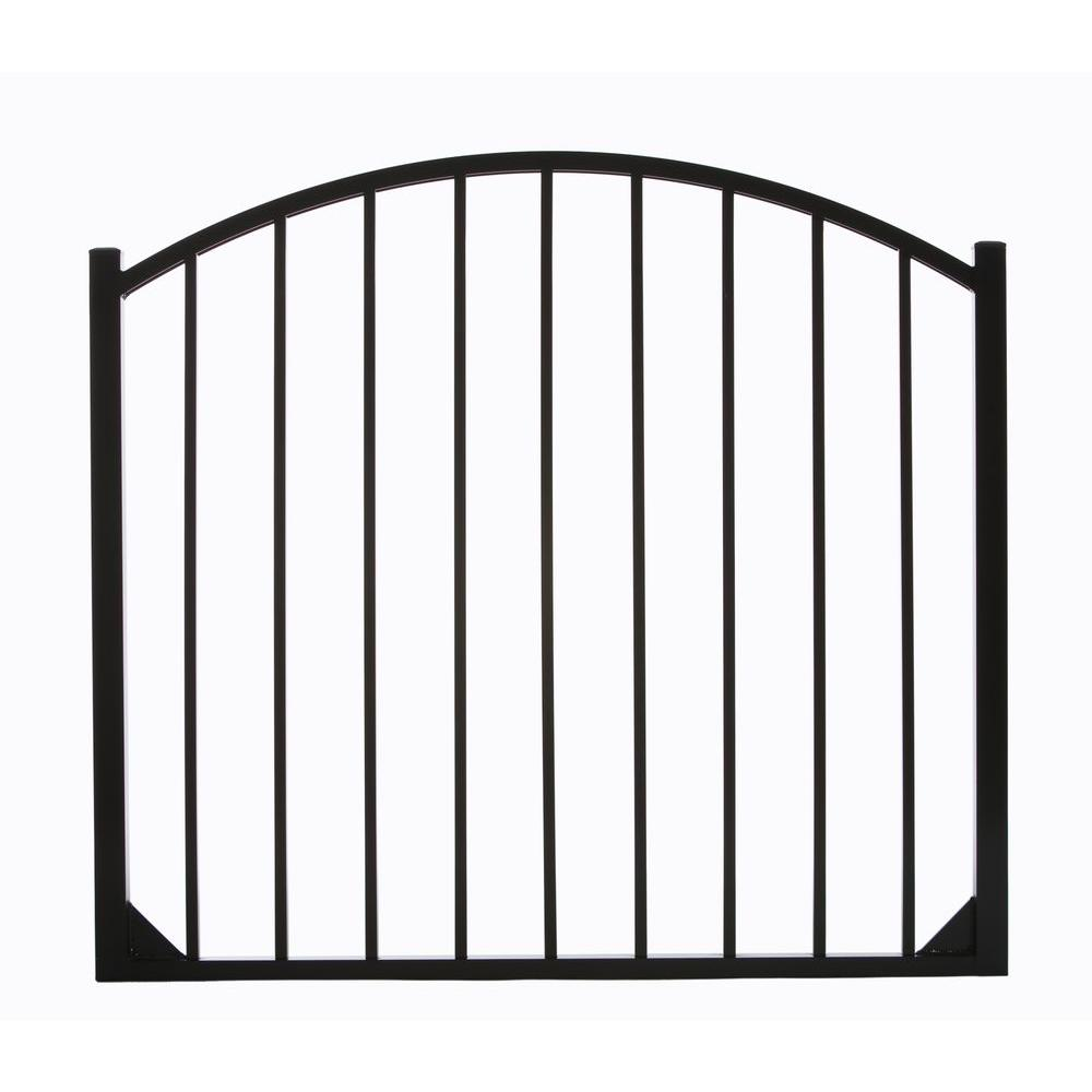 DIY Universal Fence Meriden 4 ft. W x 4.5 ft. H Opening Single Arched Aluminum Gate