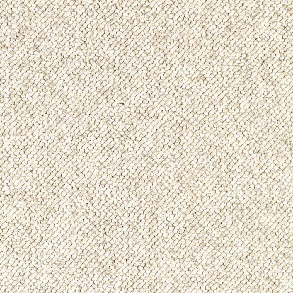 TrafficMASTER Carpet Sample - Qualifier - Color Antique Ivory Loop 8 in. x 8 in.