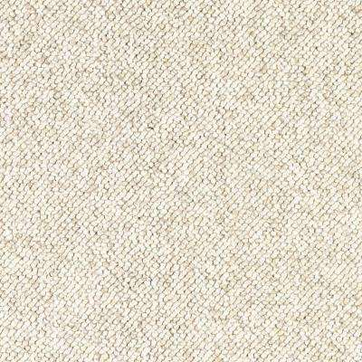 Carpet Sample - Qualifier - Color Antique Ivory Loop 8 in. x 8 in.