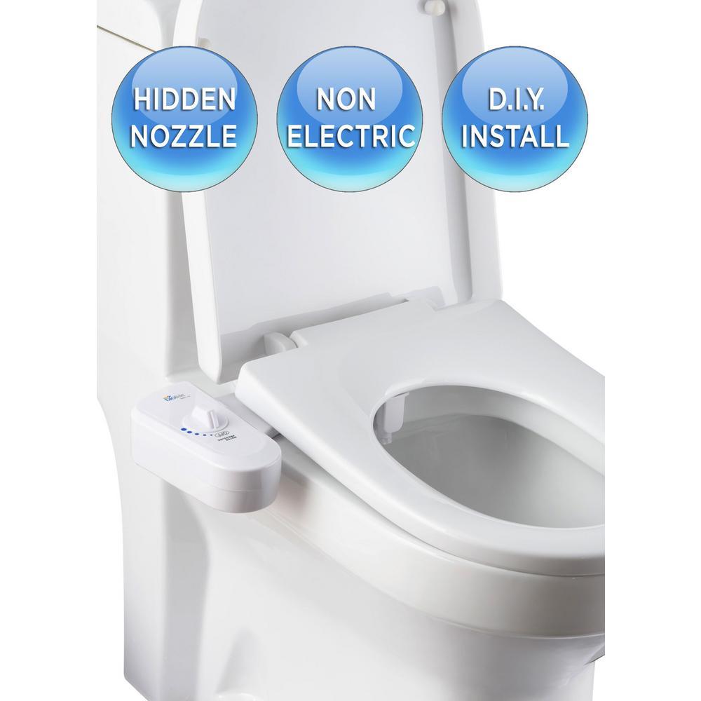 Biobidet Non Electric Attachable Bidet System For 2 Piece Toilets In