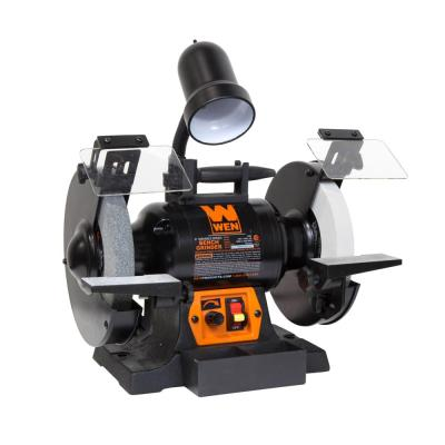 5-Amp 8 in. Corded Variable Speed Bench Grinder with Work Light