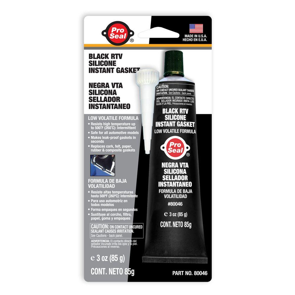 ProSeal 3 oz. Black RTV Silicone Instant Gasket (12-Pack)-DISCONTINUED