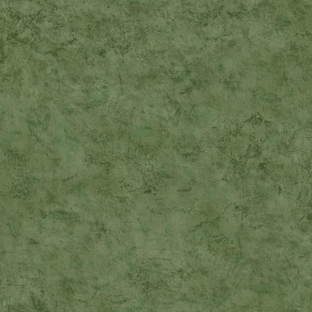 The Wallpaper Company 56 sq. ft. Green Jewel Tone Faux Plaster Wallpaper-DISCONTINUED