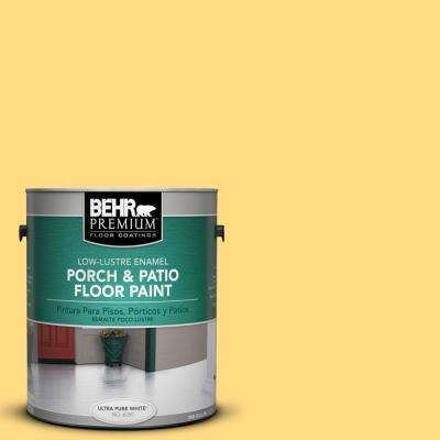 1 gal. #P290-4 Spirited Yellow Low-Lustre Porch and Patio Floor Paint