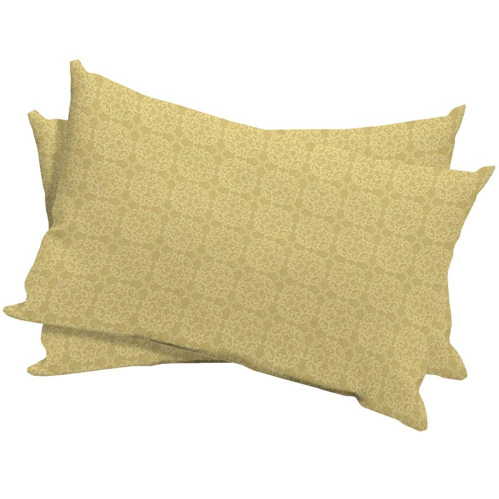Arden Terrace Medallion Outdoor Lumbar Pillow (2-Pack)-DISCONTINUED