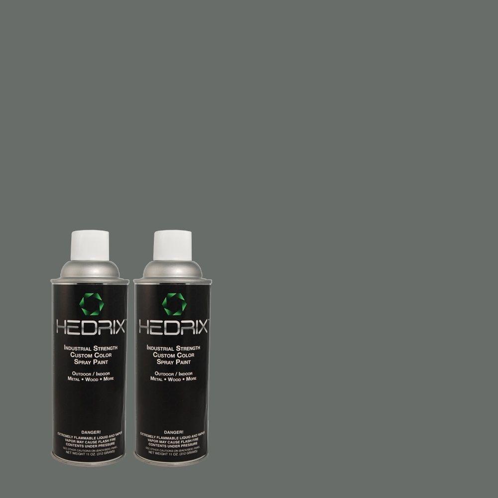 Hedrix 11 oz. Match of C40-49 Connecticut Sea Gloss Custom Spray Paint (2-Pack)
