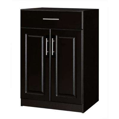 Select 18.62 in. D x 23.98 in. W x 35.98 in. H  2-Door Base Cabinet Wood Closet System with Drawer in Espresso