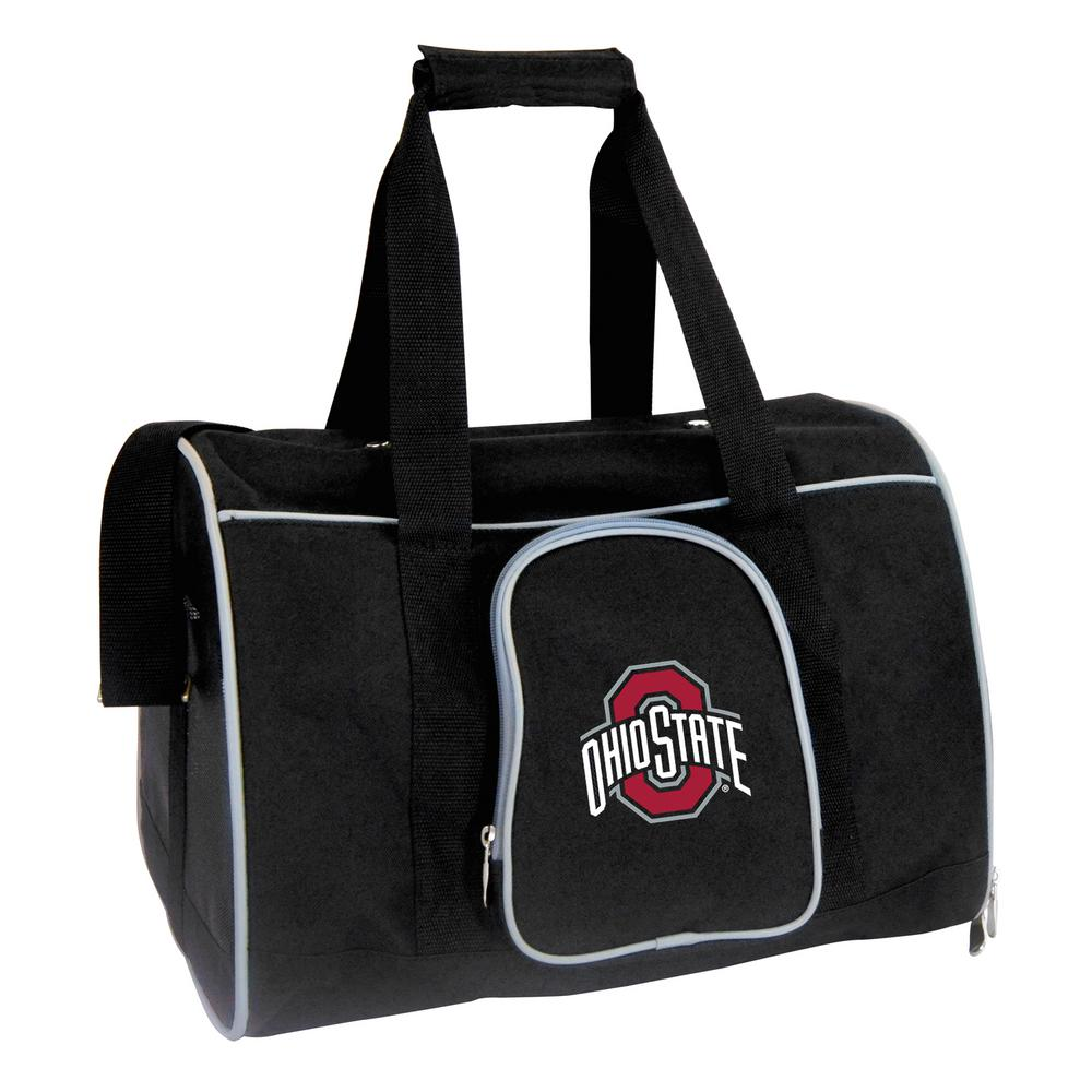 caacd223029c Denco NCAA Ohio State University Buckeyes Pet Carrier Premium 16 in. Bag in  Gray