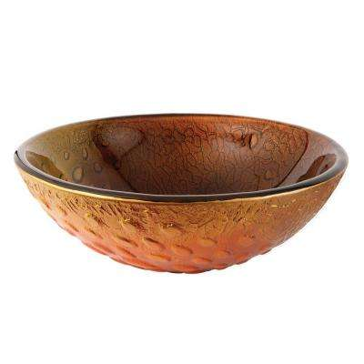 Drops Glass Vessel Sink in Amber