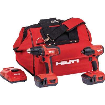 22-Volt Advanced Compact Battery Combo Kit Impact Driver and Compact Drill/Driver in a Tool Bag