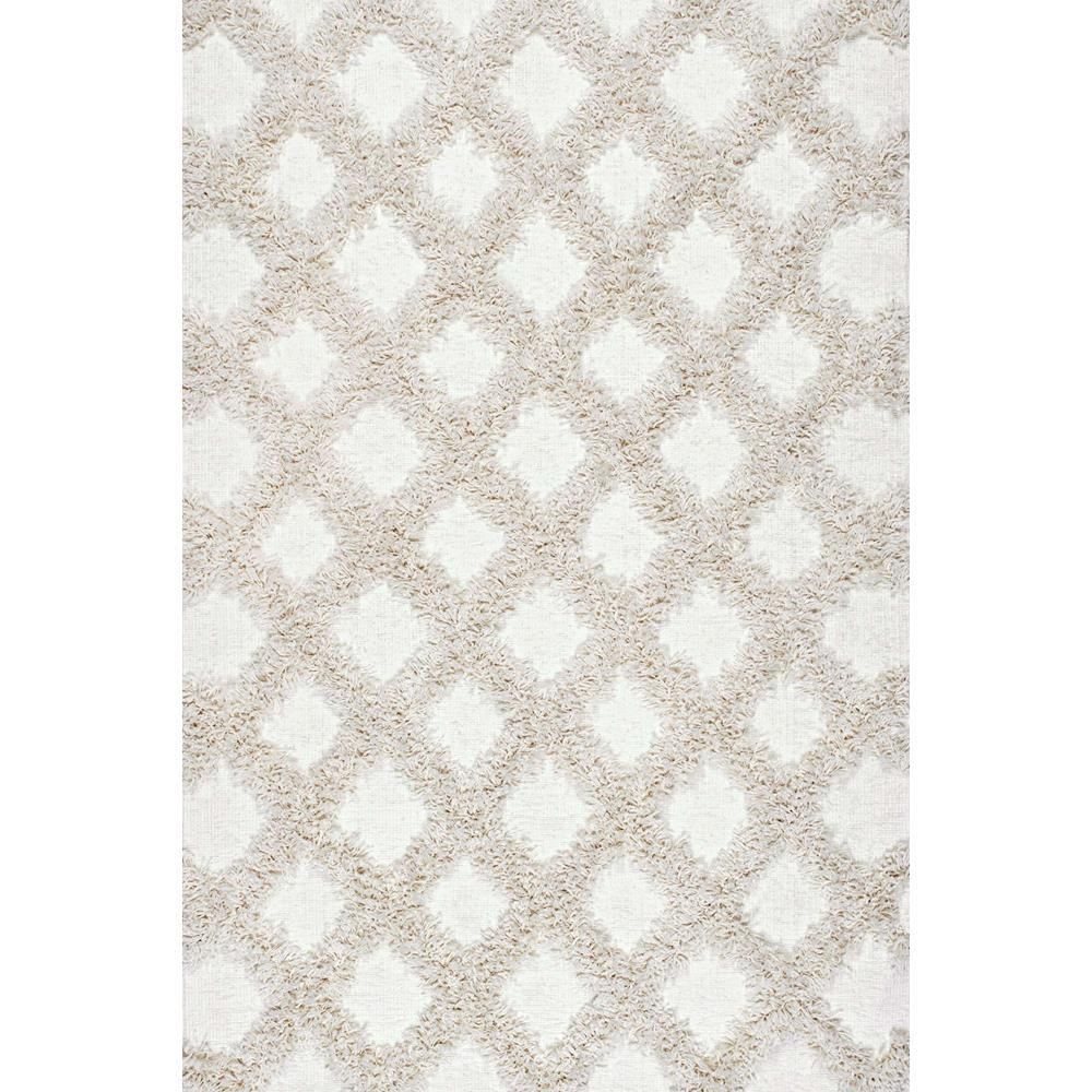 nuloom francene diamond trellis shaggy ivory 5 ft x 8 ft area