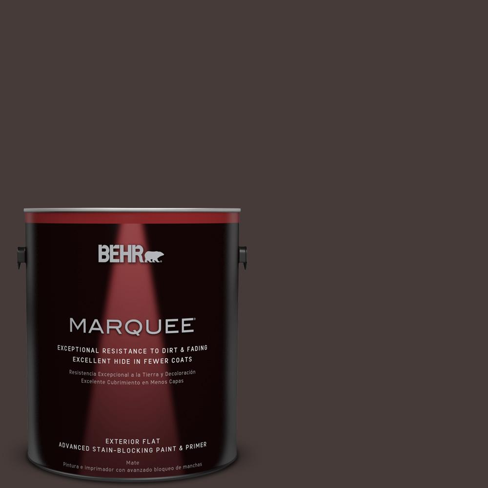1 gal. #T18-04 Nocturne Shade Flat Exterior Paint