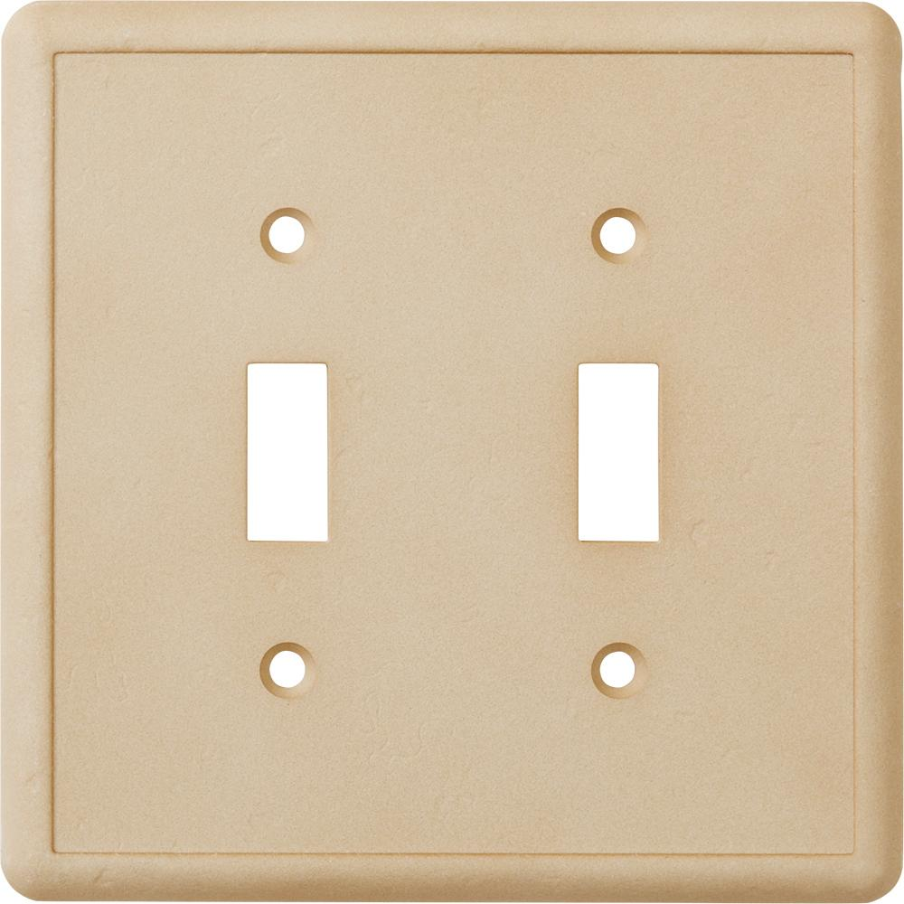 Delicieux Hampton Bay 2 Toggle Wall Plate, Travertine