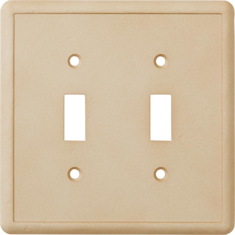 2-Toggle Wall Plate, Travertine