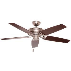 Concentra 54 in. Indoor Brushed Nickel Ceiling Fan