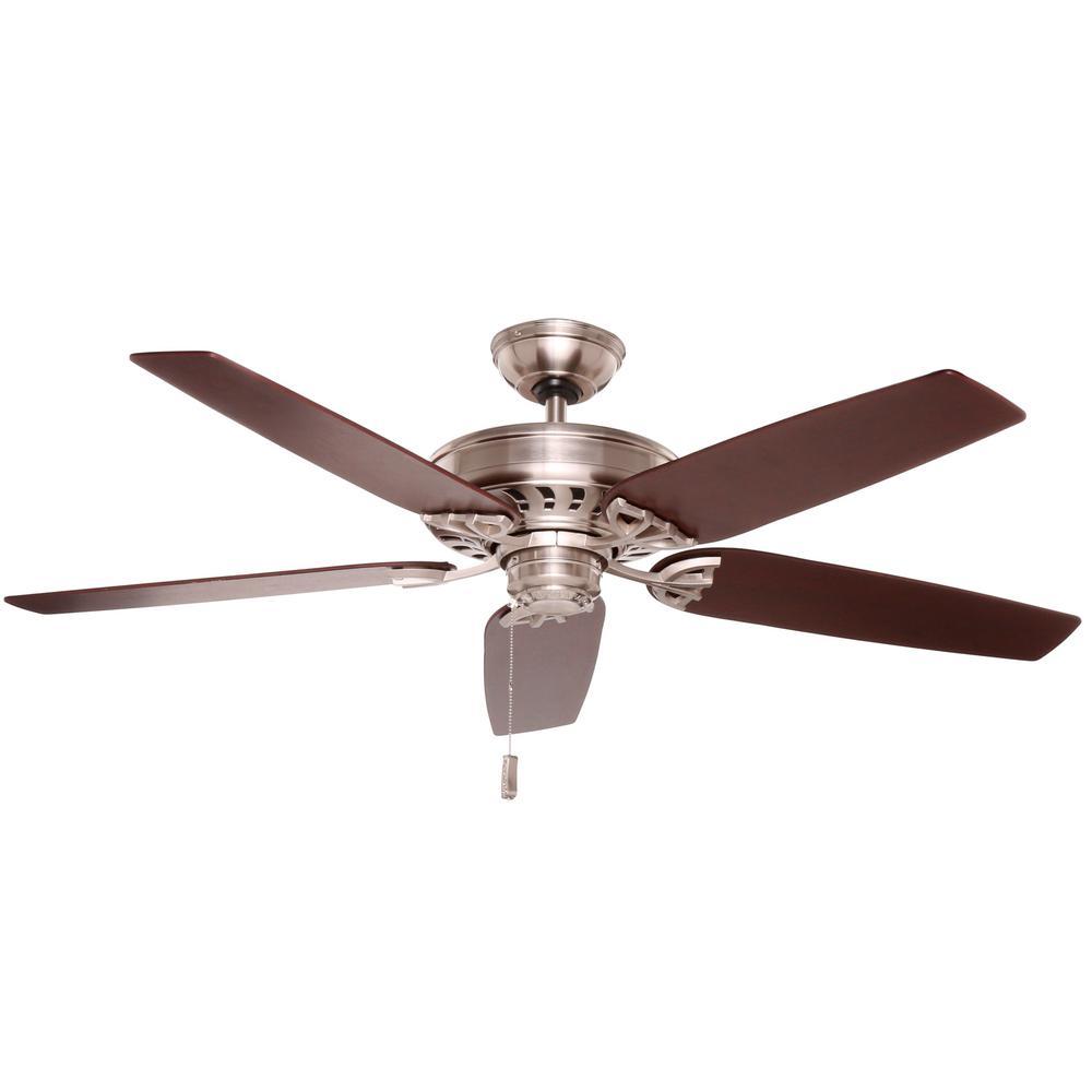 Concentra 54 in. Indoor Brushed Nickel Ceiling Fan