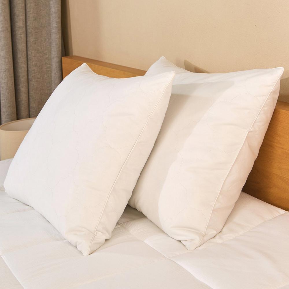 Peace nest Feather & Down Blend Jumbo Pillow (Set of 2)