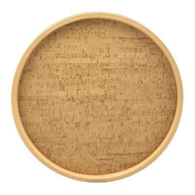 Natural Cork 14 in. Serving Tray