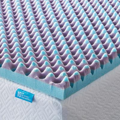 2.5 in. Duo Foam Lavender Breeze Mattress Topper